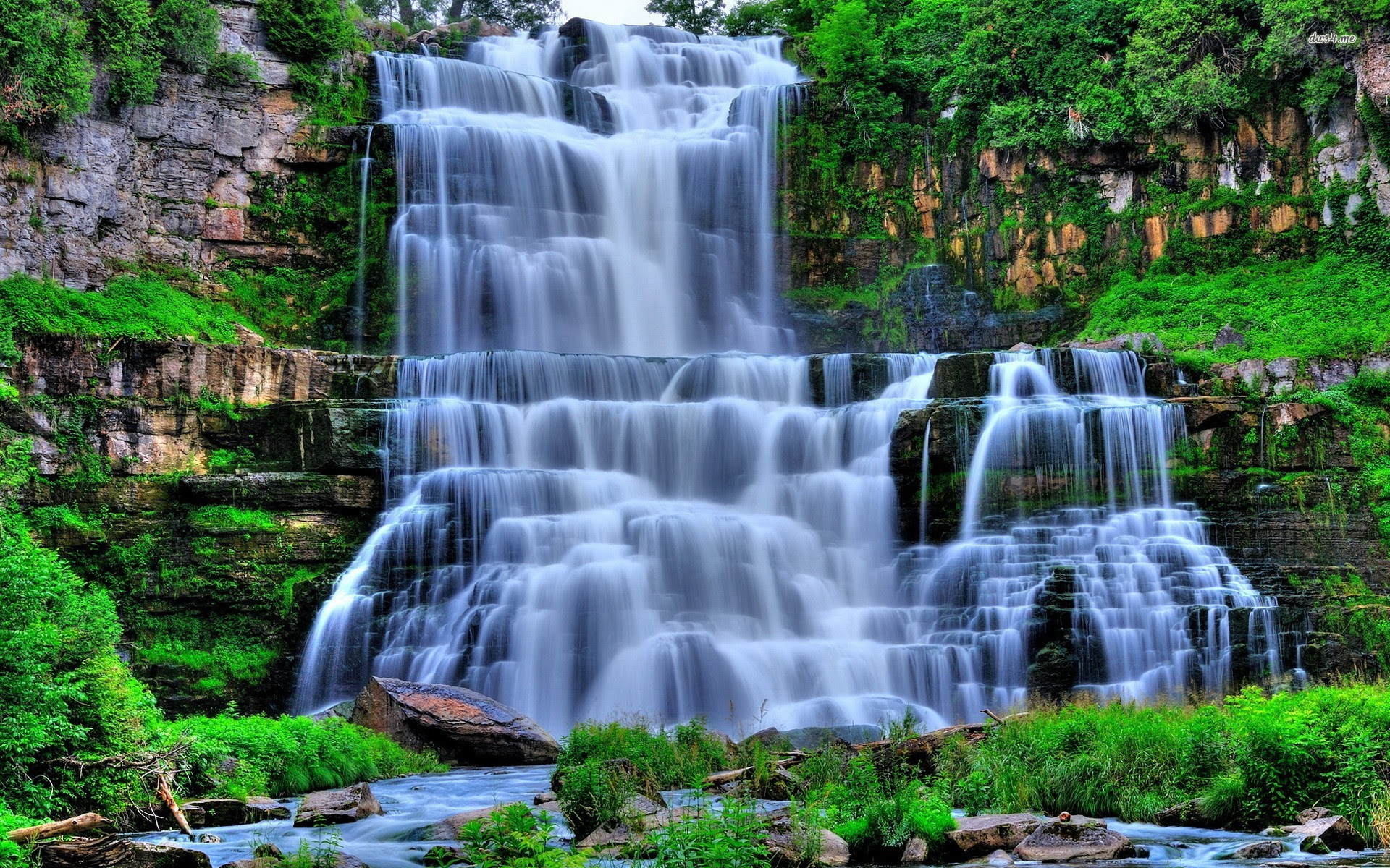 Nature Waterfall Background