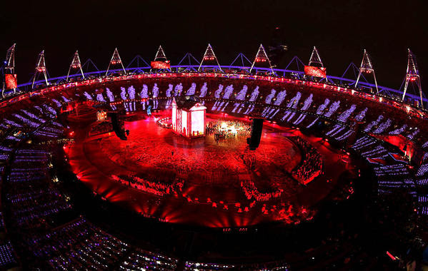 The opening ceremony of the 2012 London Olympics.