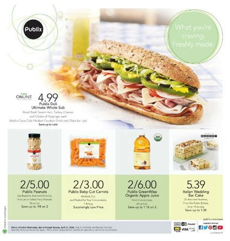 Publix Brand Ad Valid 4/7   4/13 (4/6   4/12 for some)
