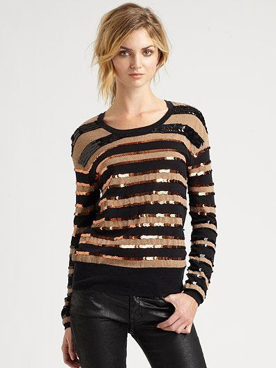 Marc by Marc Jacobs Kay Sequin-Stripe Sweater