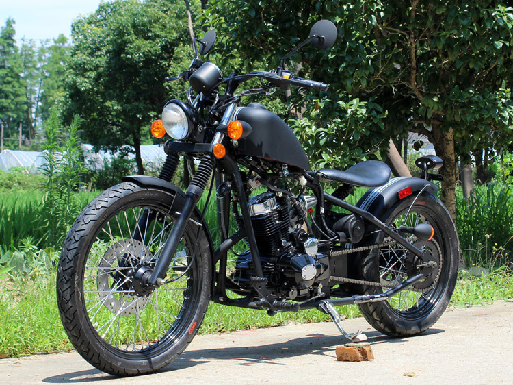 Bobber 250cc Motorcycle Custom Chopper Old School