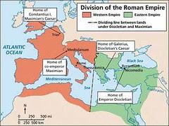 Pembahagian Empayar Rome Barat dan Rome Timur