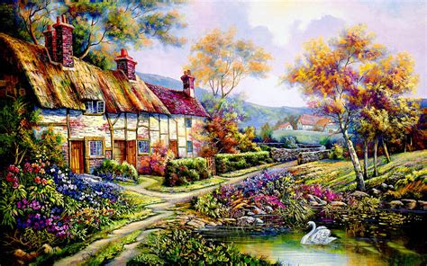 countryside cottage wallpapers countryside cottage stock