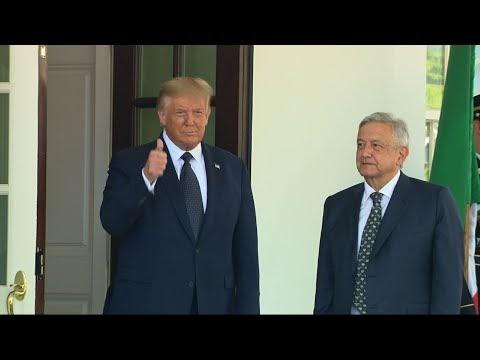 Trump, Lopez Obrador visit about trade, politics