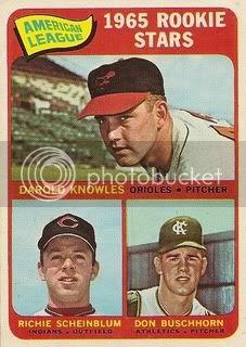 #577 American League Rookies: Darold Knowles, Richie Scheinblum, and Don Buschhorn