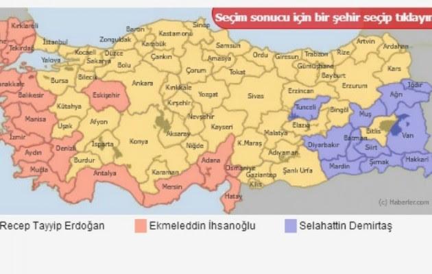 Ο χάρτης των εκλογών στην Τουρκία «φανερώνει» τον μελλοντικό διαμελισμό της