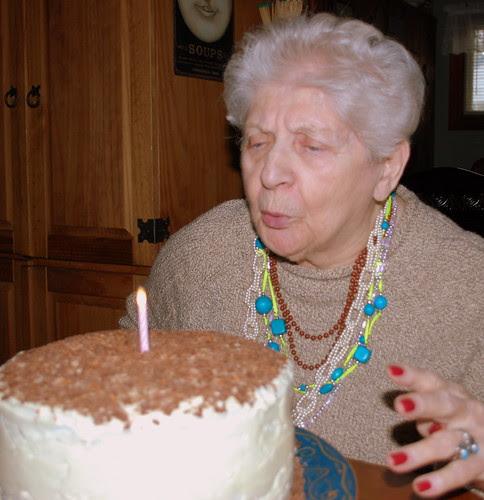 Nana candle blowimg