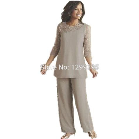 Elegant Mother of the Bride Plus Size Pant Suits Ladies