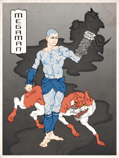MegaMan as a Ukiyo figure