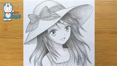 draw anime girl  hat step  step manga