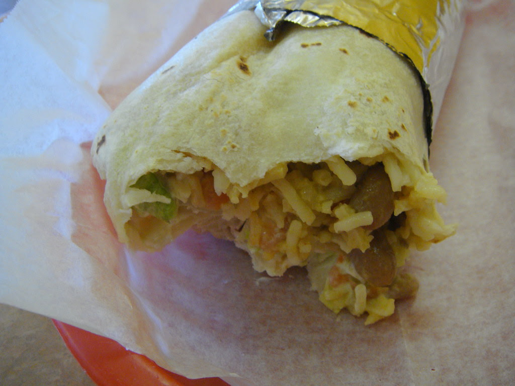 Interior of burrito