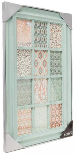 12 4x6 Green Distressed 12 Opening Collage Frame Athena Posters