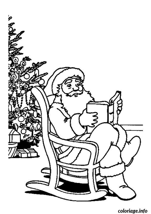 Coloriage Pere Noel Sapin Livre Jecoloriecom
