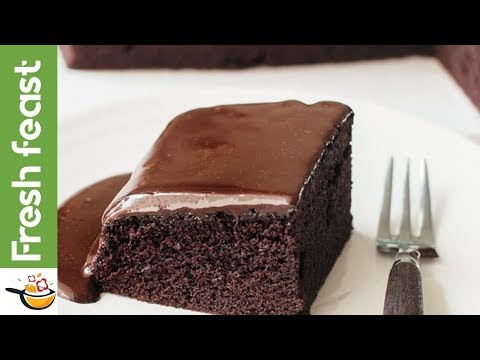 Soft and spongy chocolate homemade cake
