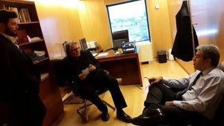 Tardà i Rufián s'han reunit amb Homs aquest dimarts al migdia, hores abans de trobar-se amb Sánchez (@Esquerra_ERC)