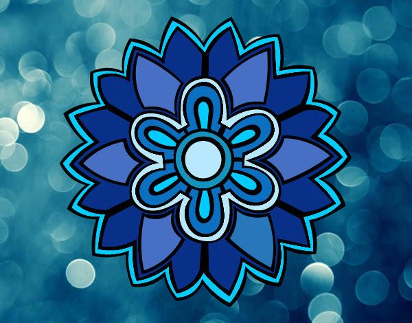 Dibujo De Mandala Tipo Azul Pintado Por Paolita En Dibujosnet El
