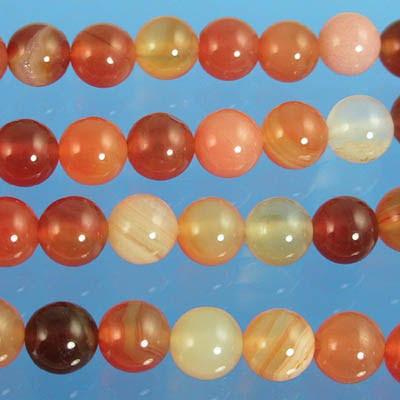 27621657 Stone Beads - 6 mm Round - Carnelian (strand)