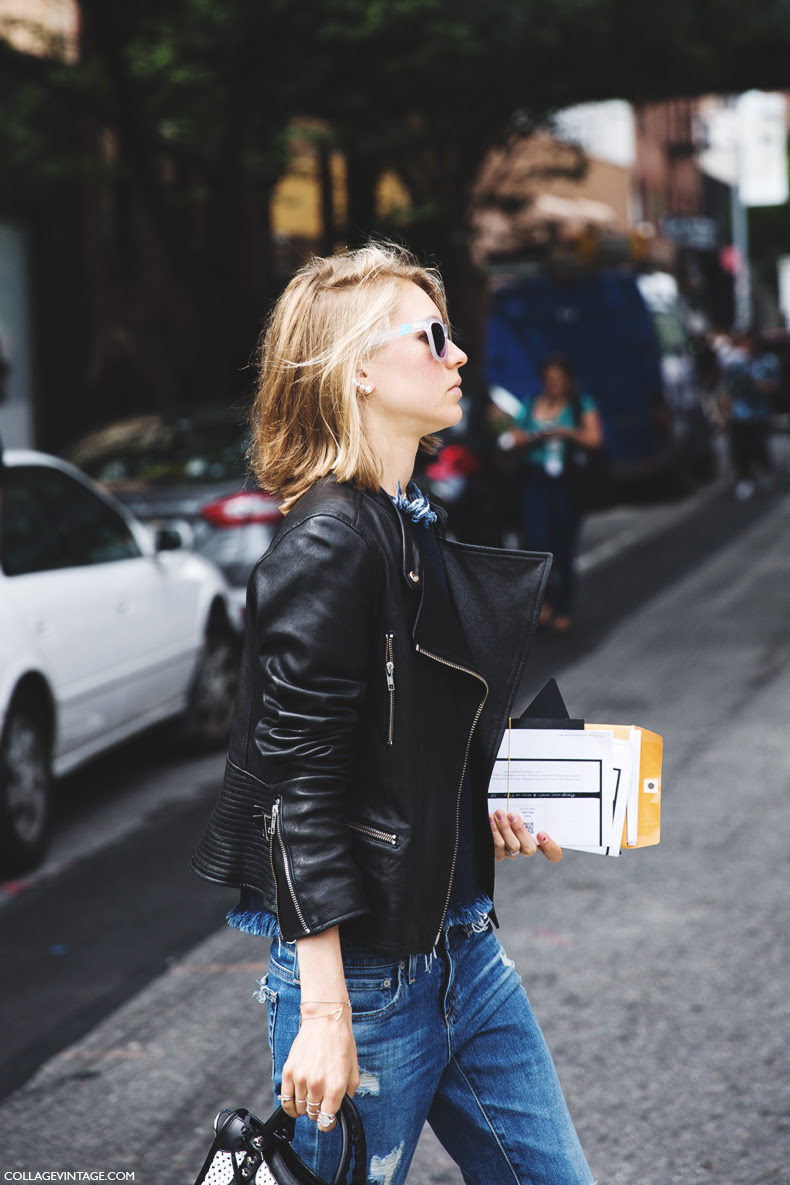 New_York_Fashion_Week_Spring_Summer_15-NYFW-Street_Style-Jessica_Minkoff-Leather_Jacket-Jeans-