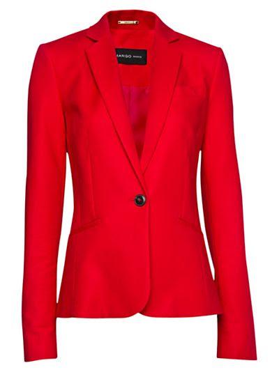 Mango Tailored Blazer in Red