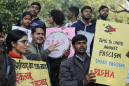 Attackers beat protesting students at Indian university
