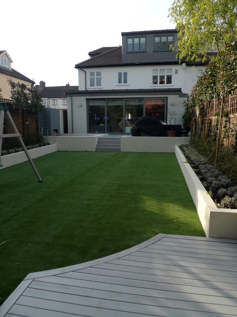Modern low maintenance minimalist garden design idea ...