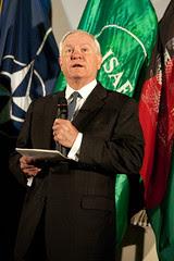 U.S. Defense Secretary Robert Gates visits ISAF Joint Command