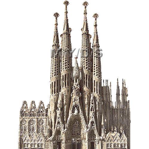 サグラダファミリアバルセロナのイラスト条件付フリー素材集