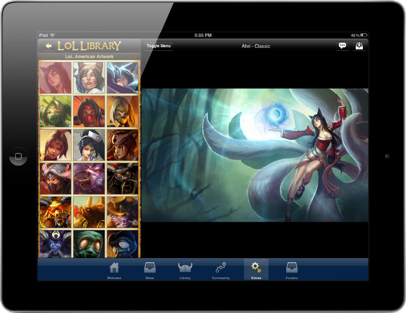 Lol Library League Of Legends Mobile App Iphone Ipad