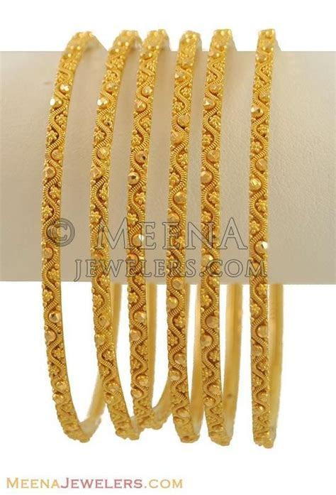 22K Gold Bangles (2 Pcs only) ( Set of Bangles )   gold