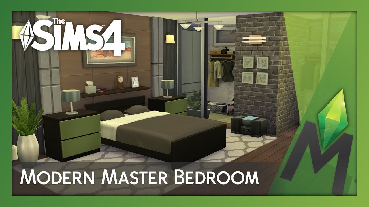The Sims 4 Room Building - Modern Master Bedroom - YouTube