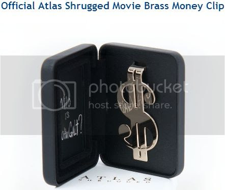'Official Atlas Shrugged Movie Brass Money Clip'