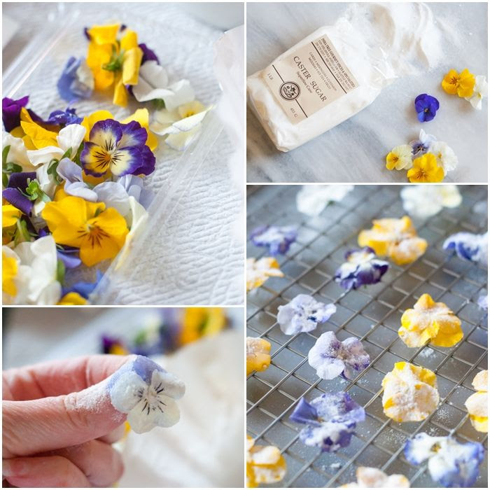 how to make sugared flowers