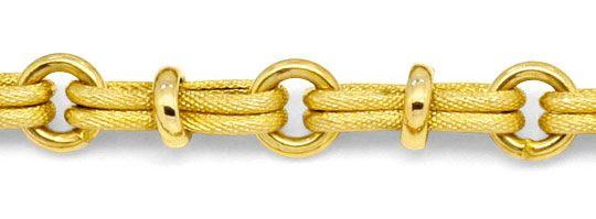 Foto 2, Design-Gold-Kette Doppel-Achter 3D-Rauten Ringe 14K/585, K2223
