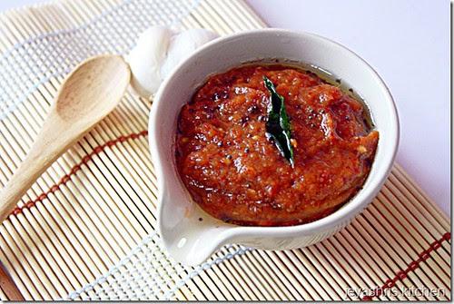Garlic chutney]