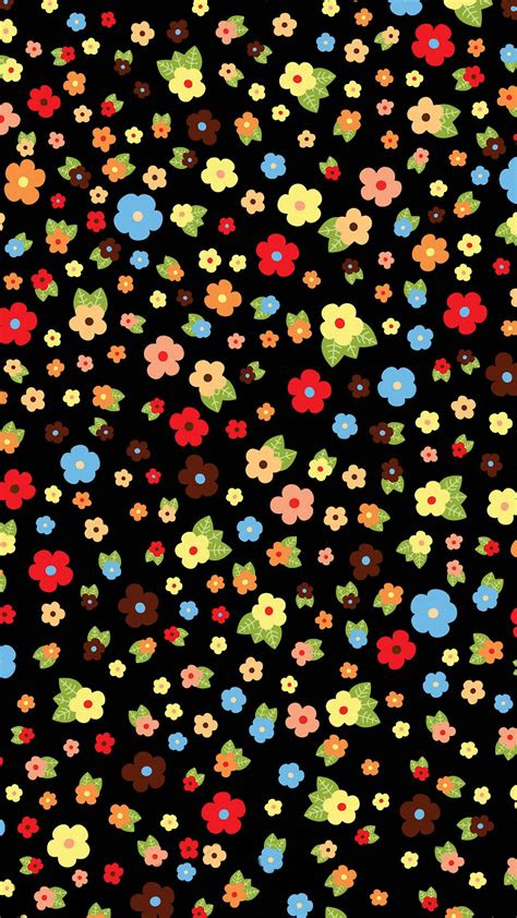 cute colorful flower pattern iphone  wallpapers hd