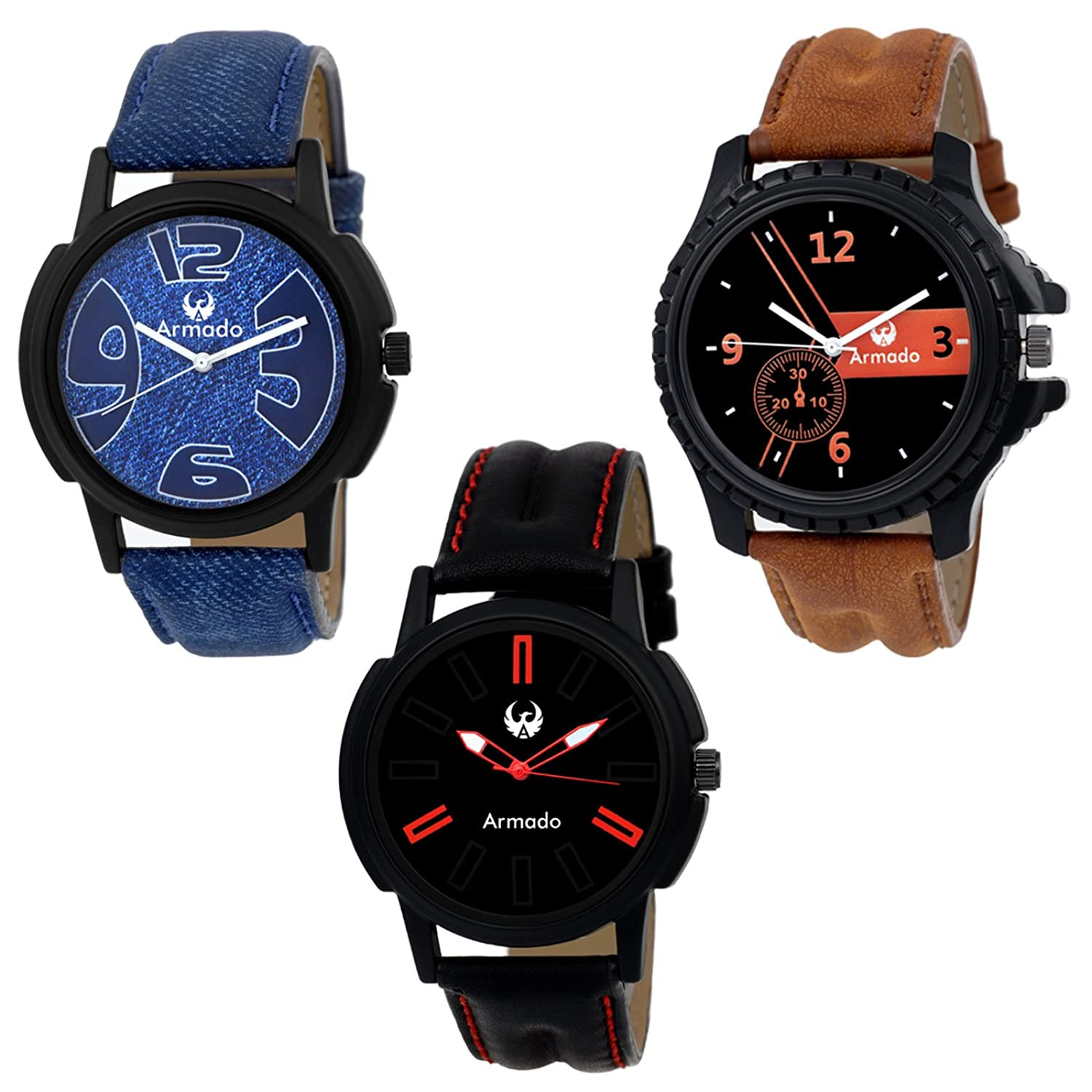 Deals on Combo Of 3 Elegant Analog Watches