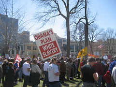 "Signs of Madison's Tea Party: ""Obama's Pl..."