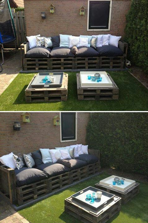 Patio furniture made out of pallets | Crafty | Pinterest