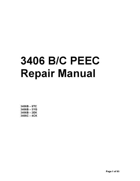 CAT 3406E PEEC Manual by Ariel Sanchez - Issuu