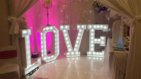 Giant LOVE Letters, LOVE Letter Hire Liverpool, Tall Light