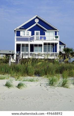Pretty Rental Home On The Beach Stock Photo 49668892 : Shutterstock