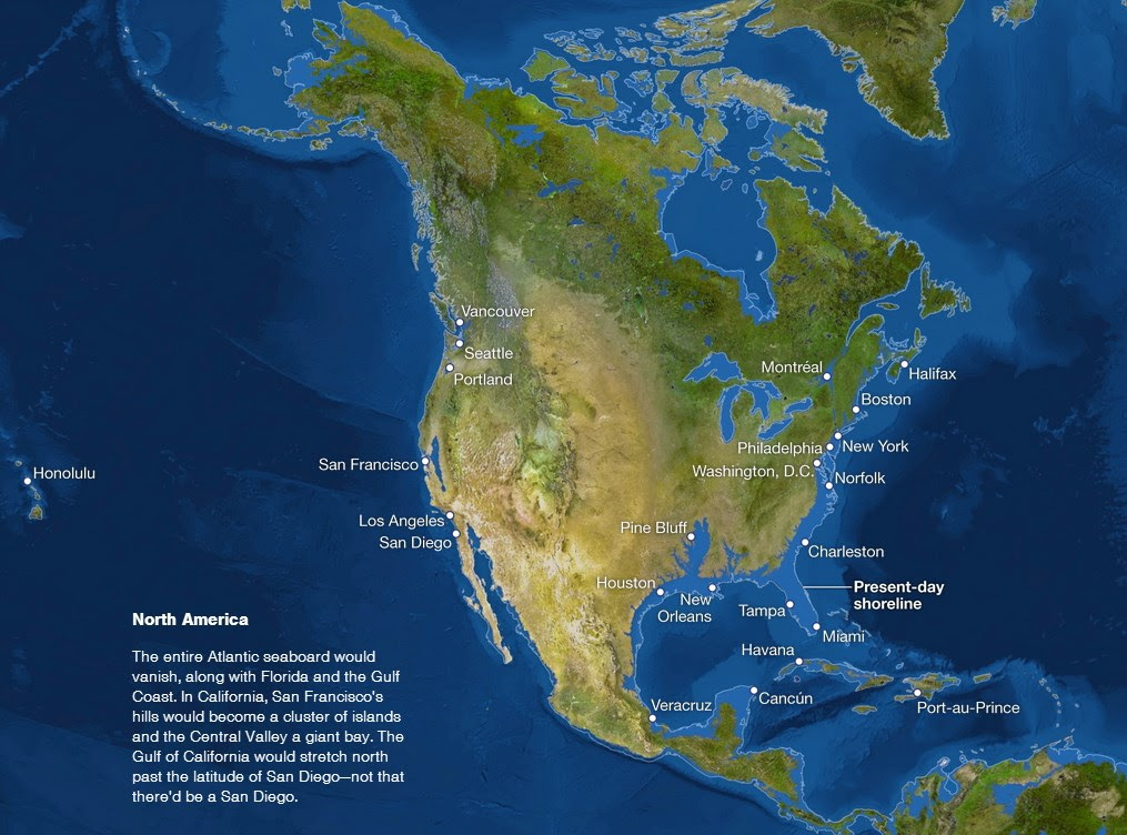 La Tierra sumergida norteamerica