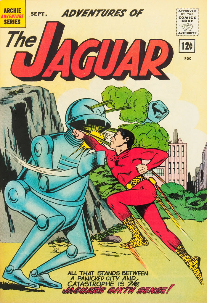 Adventures of the Jaguar #8 John Rosenberger Cover (Archie, 1962)