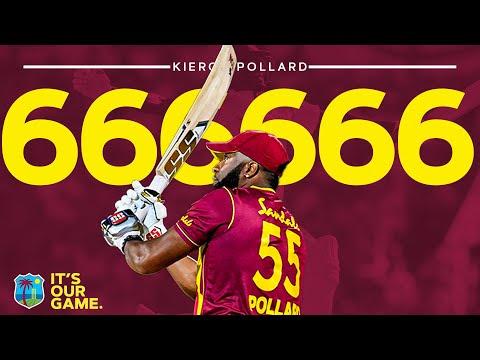 Kieron Pollard HITS Six Sixes in an Over!! | West Indies vs Sri Lanka | 1st CG Insurance T20I