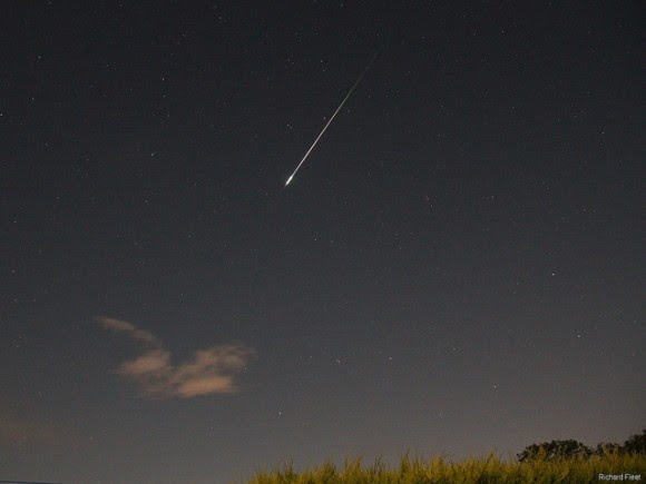 A bright Perseid meteor over the UK on August 13, 2014. Credit and copyright: Richard Fleet.