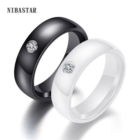 New Arrival Black White Colorful Ring Ceramic Ring For