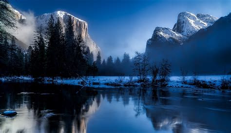 body  water  trees  snowfield  mountains