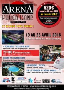 Affiche Arena Poker CAMP VIII-v3