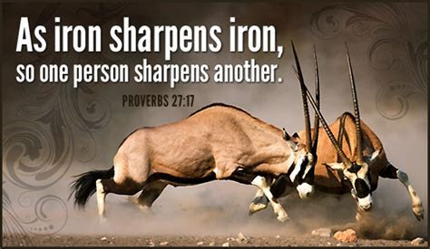 Free Iron Sharpens Iron eCard   eMail Free Personalized