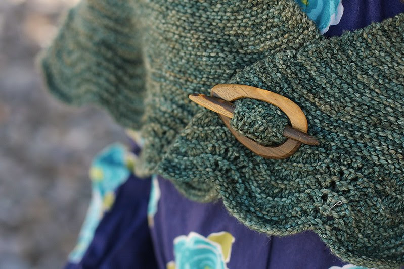 wooly moss roots shawl pin *LOVE*